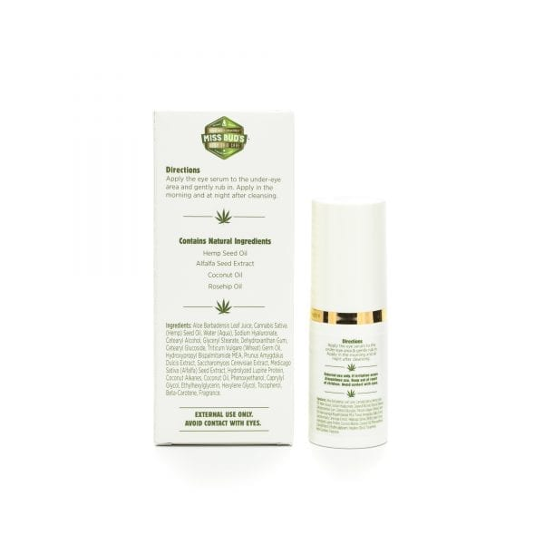 Miss Bud's Hemp Eye Serum back