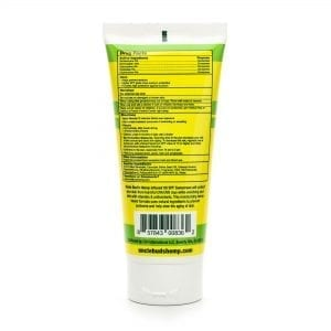 Uncle Bud's Hemp SPF 50 Sunscreen Lotion back