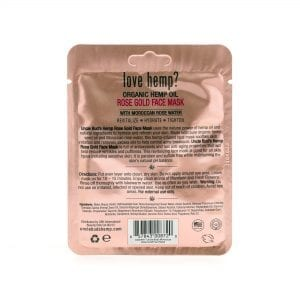 Uncle Bud's Hemp Rose Gold Face Mask back