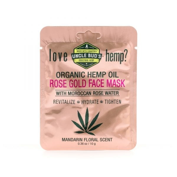 Uncle Bud's Hemp Rose Gold Face Mask