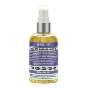 Uncle Bud's Hemp CBD Massage & Body Oil Back