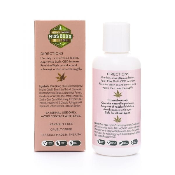 Miss Bud's CBD Intimate Feminine Wash Back
