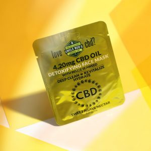 One single package of Uncle Bud's 4.20mg CBD Detoxifying Face Mask