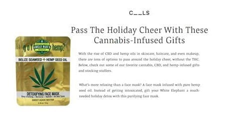 Cannabis Infused Gifts Uncle Bud's Hemp Face Mask