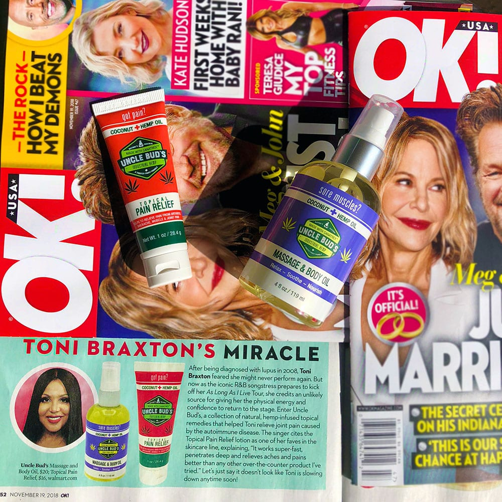 Toni Braxton's Miracle Uncle Bud's Pain Relief OK Magazine