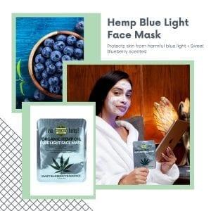 Blue Light Hemp infused beauty Face Mask