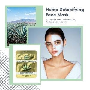 Detoxifying hemp infused beauty face mask