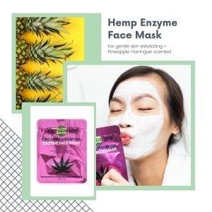 Enzyme hemp infused beauty Face Mask