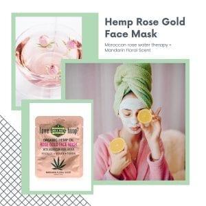 Hemp Rose Gold hemp infused beauty face masks