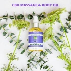 CBD Massage & Body Oil Image 1