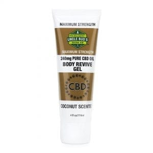 Uncle Bud's CBD Body Revive Gel Topical Body Rub