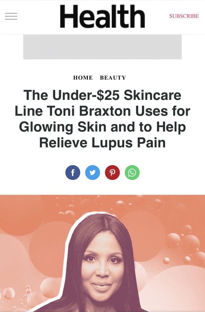 Health.com Toni Braxton Lupus Pain Relief
