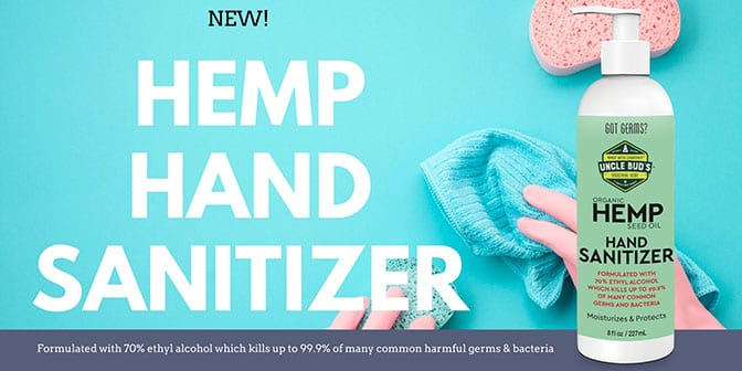 Hemp Hand Sanitizer Header
