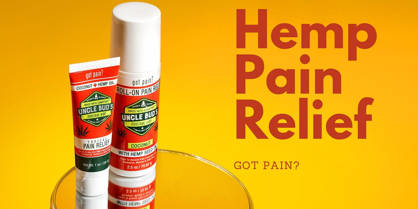 Uncle Bud's Hemp Pain Relief Products Header