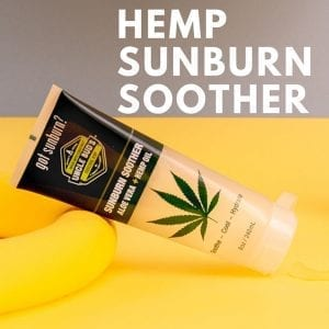 most popular hemp products sunburn soother