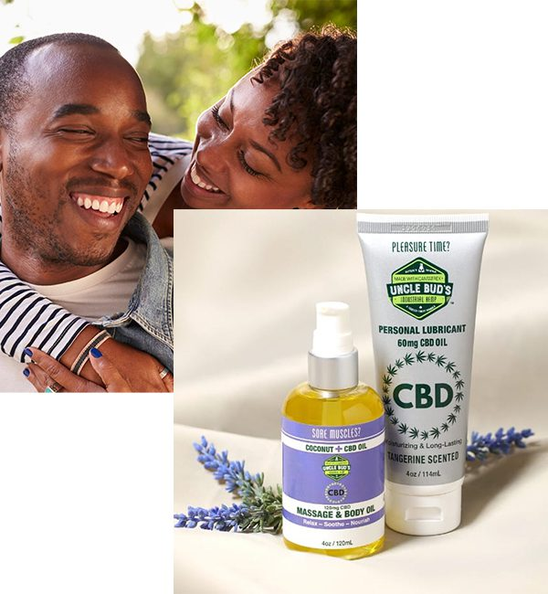 CBD Massage Oil and Lubricant Set