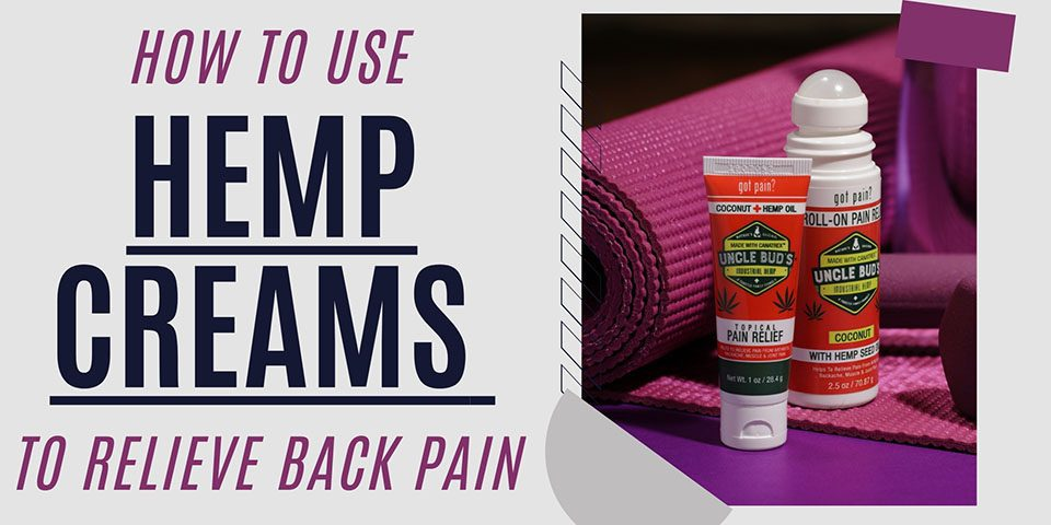 How to Use Hemp Creams to Relieve Back Pain Header