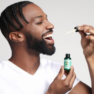 Chill with CBD Man with Sublingual