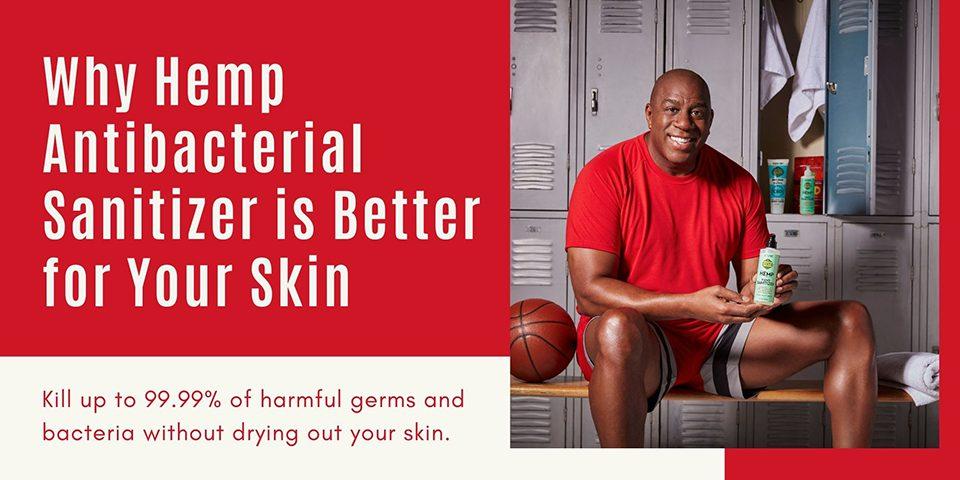 Hemp antibacterial sanitizers Header